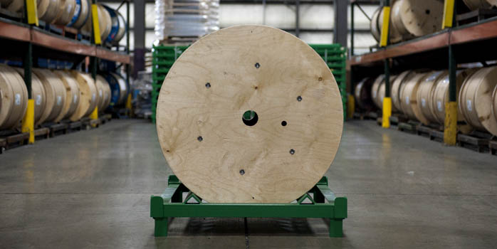wood spoll steel skid-sml