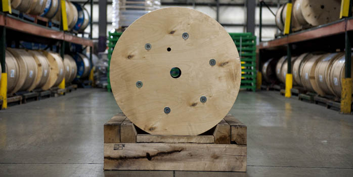 wood spool wood skid-sml